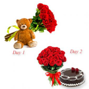 two-roses-bunch-serenade-combos-Bhopal