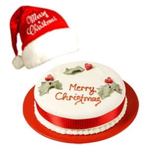 christmas-cake-with-cap-combos-Bhopal
