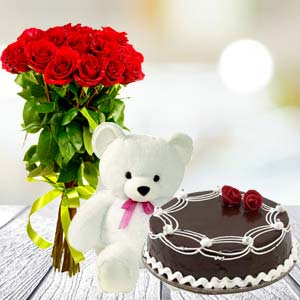 Roses Teddy Combo: Rose Day Shagpur,  Bhopal
