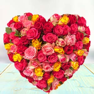 HEART SHAPED ARRANGEMENT Flowers Cake Teddy & Card, Bhopal