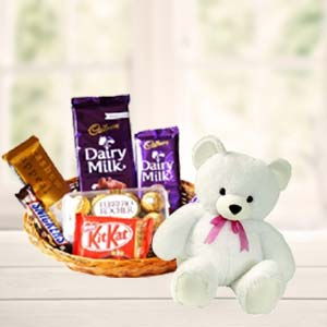 Teddy Combo: Birthday-chocolates  Bhopal
