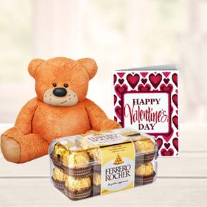 Chocolates And Teddy Combo: Gift Sikandrabad,  Bhopal