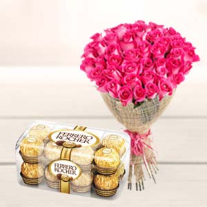 Valentine Bunch & Chocolate: Gift Bhel,  Bhopal