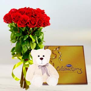 Flowers, Chocolate & Teddy: Gift Meerpur,  Bhopal