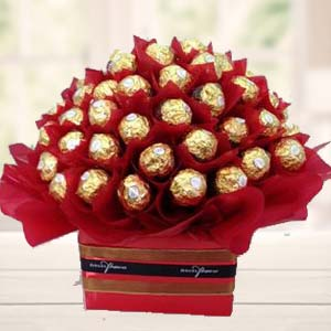 48 Ferrero Rocher Choco In Bunch: Gift Nishatpur,  Bhopal