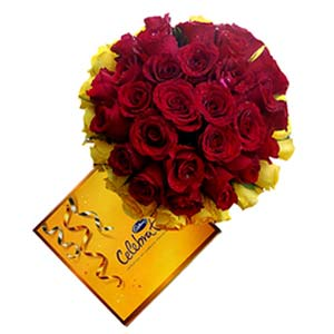 Cadbury And Mixed Roses: Gift Kopal,  Bhopal