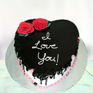 I LOVE YOU CHOCOLATE CAKE: Valentine's Day Kalyan Pur,  Bhopal