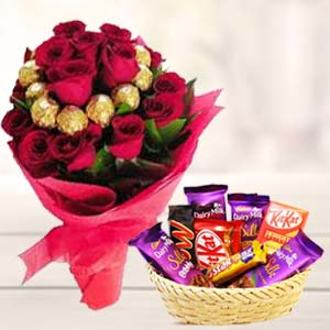 Valentine Chocolate Bouquet: Valentine's Day Baskheda,  Bhopal