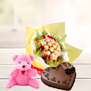 Valentine LOVE Combo: Teddy Day Bda Colony,  Bhopal