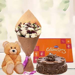 Beautiful Combo For Valentine: Teddy Day Navi Bhag,  Bhopal