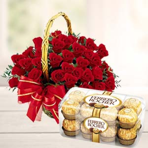 Chocolate Combo With 20 Roses: Gift Arera Hills,  Bhopal