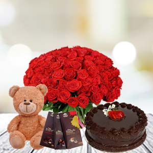 Valentine Basket Combo With Temptations: Gifts Neelbad,  Bhopal