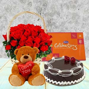 Five Valentine Gifts Combo: Teddy Day Kalyan Pur,  Bhopal