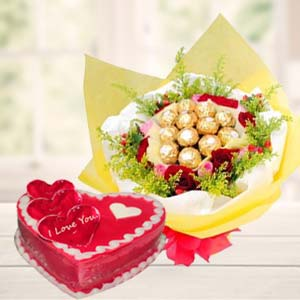 Heart Shaped Chocolate Combo: Anniversary-gift-ideas  Bhopal