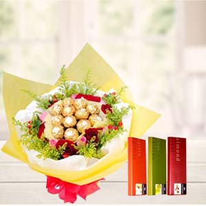 Ferrero Rocher Bunch With Temptations: Valentine's Day Gifts For Girlfriend Idgah Hills,  Bhopal