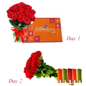 Roses Serenade With Chocolates: Gift Kurana,  Bhopal