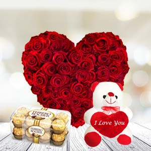 Exclusive Combo With Chocolates: Valentine's Day Flowers Misrod,  Bhopal