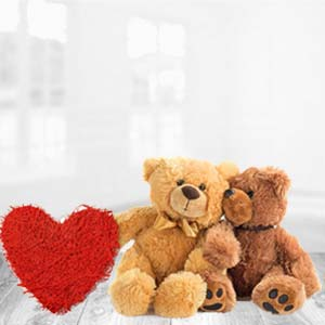 Teddy Bear With Pillow: Valentine's Day Gifts For Her Kohefiza,  Bhopal