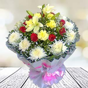 Mix Flowers Bunch: Gifts Data Colony,  Bhopal