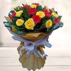 Bouquet Of Mix Flower: Gift Baskheda,  Bhopal