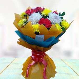 Bouquet Of Gerbera And Carnations: Gift Bagmugalia,  Bhopal