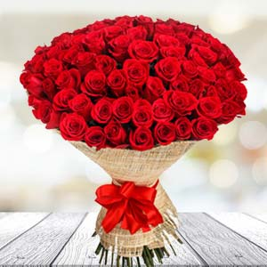 Bouquet Of 30 Red Roses: Gifts For Brother Arhedi,  Bhopal