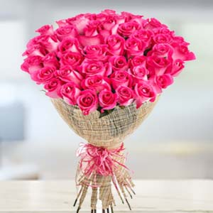 Bouquet of 30 Pink Roses: Flowers  Bhopal