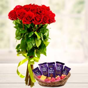 Best Chocolates Combo: Valentine's Day Flowers Bda Colony,  Bhopal