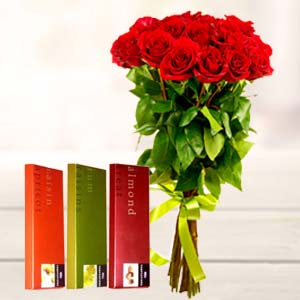 Best Roses Combo: Valentine Gifts For Husband Imliya,  Bhopal