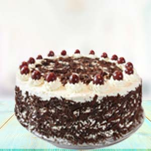 1 KG Black Forest Cake: Gifts For Sister Kolua Kalan,  Bhopal