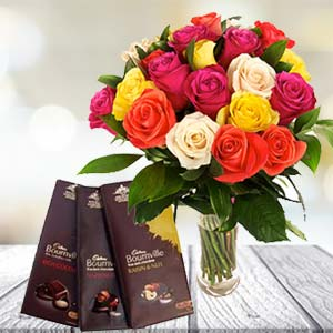 Mix Roses With Chocolates: Gifts For Her Meerpur,  Bhopal