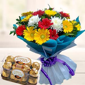 Mix Gerbera With Ferrero Rocher: Gifts For Boyfriend Ayodha Bypass,  Bhopal