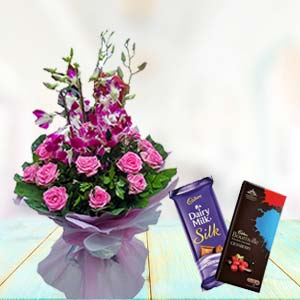 Orchids With Chocolates: Gifts For Sister  Bhopal