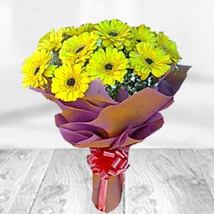 Yellow Gerbera Bunch: Gift Dobra,  Bhopal