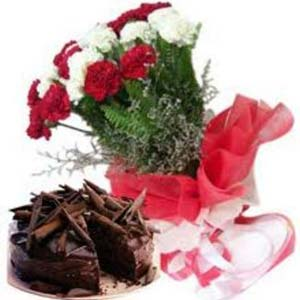 Carnations Combo: Gift Bda Colony,  Bhopal