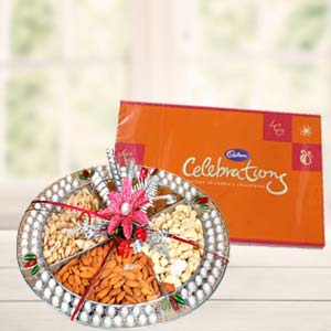 Dryfruit Basket With Cadbury Celebrations: Gift Bda Colony,  Bhopal