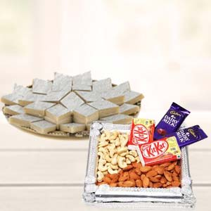 Dry Fruits Combo With Kaju Katli: Gift Arhedi,  Bhopal