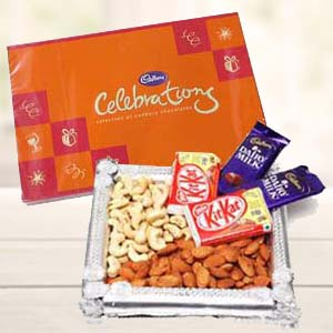 Dry Fruits Combo With Cadbury Celebrations: Rakhi Kal Khedi,  Bhopal