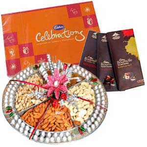 Dry Fruits Box Combo With Chocolates: Mothers day Chuna Bhatti,  Bhopal
