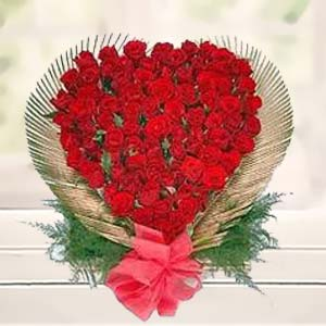 Red Rose Heart: Birthday-flowers  Bhopal