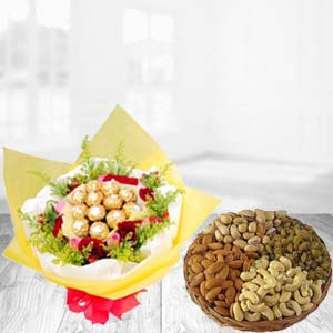 Special Combo With Dry Fruits Thali: Gift For Friends Kalyan Pur,  Bhopal