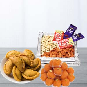 Mix Sweets Combo With Dry Fruits: Rakhi Parewa Kheda,  Bhopal