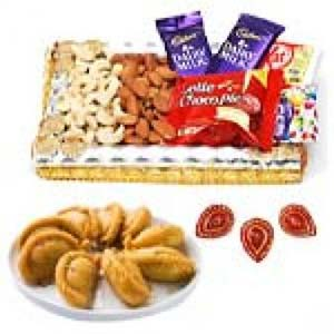 Ghujiya Sweets With Dry Fruits Thali: Gift Imliya,  Bhopal