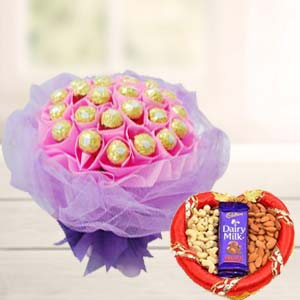 Combo Of Ferrero Rocher Chocolates: Gift For Friends Data Colony,  Bhopal