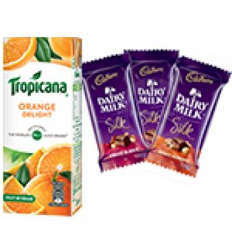 Tropicana & Dairy Silk Chocolates: Gifts For Brother Bhauri,  Bhopal