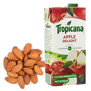 Tropicana Juice With Almonds: Gifts For Sister Kolua Kalan,  Bhopal