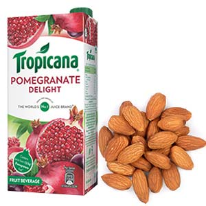 Tropicana & Dry Fruits Combo: Gifts For Brother  Bhopal