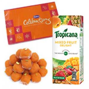 Tropicana And Sweets Combo: Gift For Friends Maharan Pratap Nagar,  Bhopal