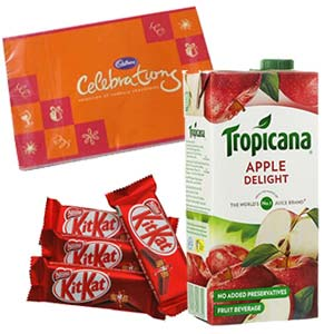 Tropicana Apple Juice Combo: Gifts For Her Bda Colony,  Bhopal