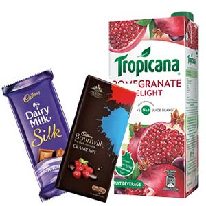 Tropicana Pomegranate With Chocolates: Gift Sikandrabad,  Bhopal